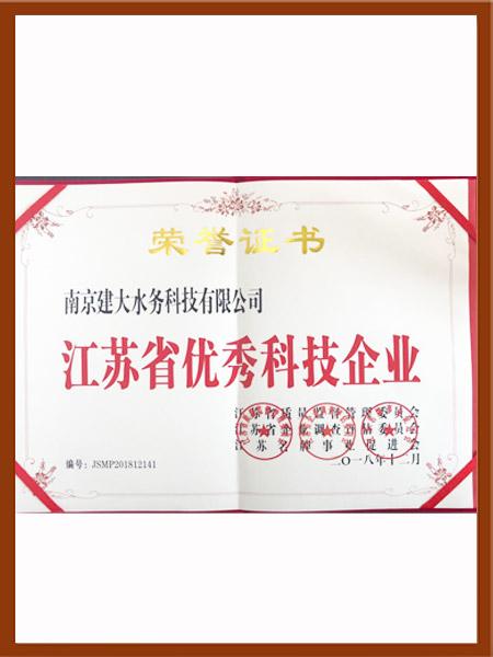 优秀科技企业荣誉证书